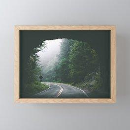 Through The Tunnel Framed Mini Art Print