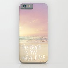 the beach is my happy place iPhone 6 Slim Case