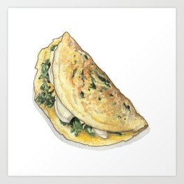 Breakfast & Brunch: Omelette Art Print