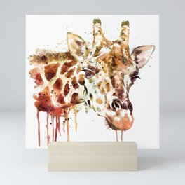 Giraffe Head Mini Art Print