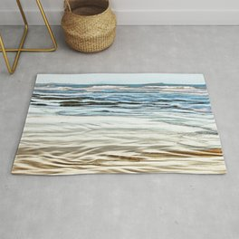 Abstract waves on the beach Rug