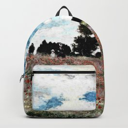 Claude Monet's Poppy Fields Backpack