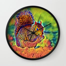 AnimalColor_Squirrel_004_by_JAMColors Wall Clock