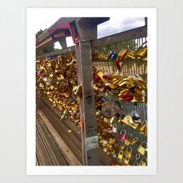 Parisienne Locks of Love Bridge Art Print