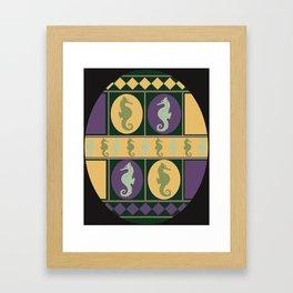 Seahorse Parade Framed Art Print