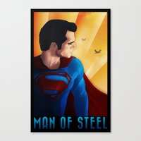 man of steel Canvas Prints featuring Man of Steel by sevillaseas