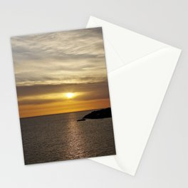 Sunset over the sea of Gaeta Stationery Cards