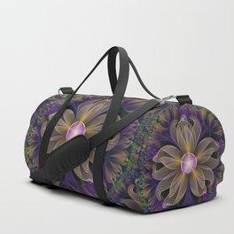 Bohemian Iris of Lavender Potpourri and Green Sage Duffle Bag