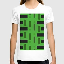 Pattern of Squares in deep Green T-shirt