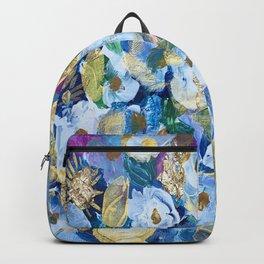 Gilded Floral Tapestry Backpack