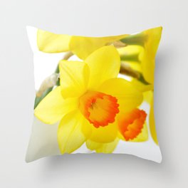 narcissus flowers Throw Pillow