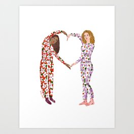 Pajama Friends Art Print