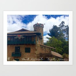 Mount Monserrate at Christmastime Maybe, Bogota, Colombia Art Print