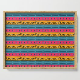 African Style Pattern Serving Tray