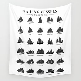 Sailing Vessel Types And Rigs Wall Tapestry