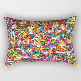 Rainbow Sprinkles Sweet Candy Colorful Rectangular Pillow