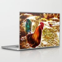 rooster Laptop & iPad Skins featuring Rooster by Veronika
