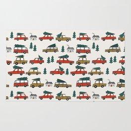 Christmas tradition christmas tree car drive home winter holidays Rug
