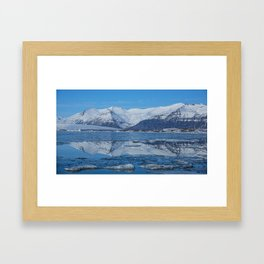 Ice lagoon Reflections Iceland Framed Art Print