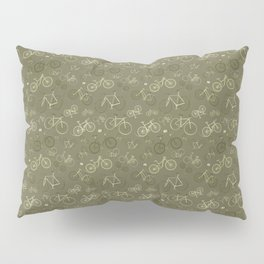 I love bikes in army green Pillow Sham