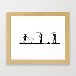 Hula Hoop Fun!! Framed Art Print