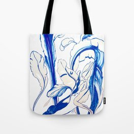 Plant in Blue Marker - Leaf of Life Miracle Leaf - Original Blue Tote Bag