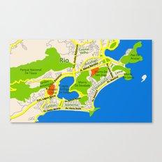RIO map design - Brasil Canvas Print