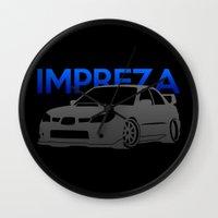 subaru Wall Clocks featuring Subaru Impreza 2006 by Vehicle