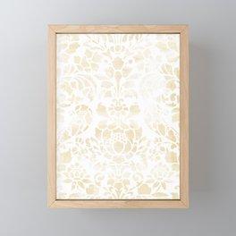 Vintage Floral Pattern White Wash Framed Mini Art Print