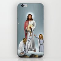 christ iPhone & iPod Skins featuring Jesus Christ by Georgi Minkov