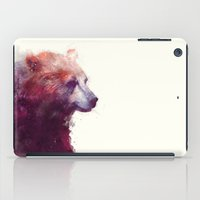 tree iPad Cases featuring Bear // Calm by Amy Hamilton