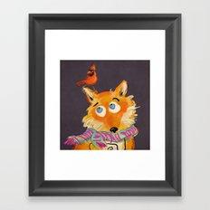 Hello You Mr Fox Framed Art Print
