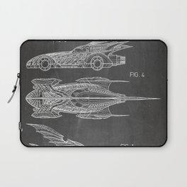 Batmobile Patent - Bat Mobile Art - Black Chalkboard Laptop Sleeve