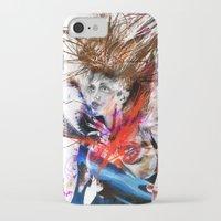 lara croft iPhone & iPod Cases featuring miss lara croft by yossikotler