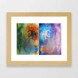 Abstract Rorschach Nebula Framed Art Print