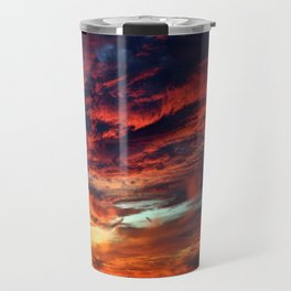Fiery Sunset Travel Mug