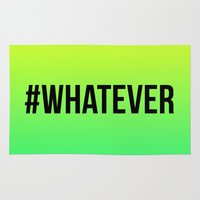 whatever Area & Throw Rugs featuring WHATEVER by #ARTIST