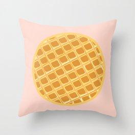 Pink Waffle Throw Pillow