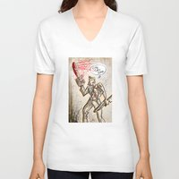 evil dead V-neck T-shirts featuring Ash from The Evil Dead by Joe Badon