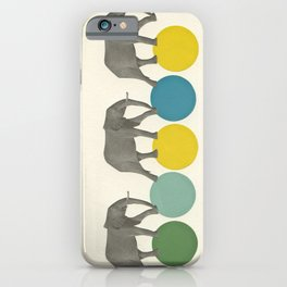 Travelling Elephants iPhone Case