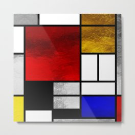 Luxury Mondrian Metal Print