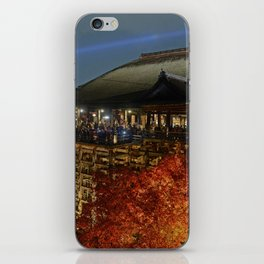Kiyomizudera Autumn iPhone Skin