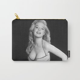 Betty Brosmer, Hollywood Starlet Blonde Bombshell Pinup Girl black and white photograph Carry-All Pouch