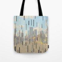 dallas Tote Bags featuring Dallas by Cale potts Art