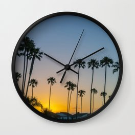 Newport Sunrise Palms Wall Clock