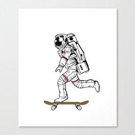 Astronaut Skater Canvas Print