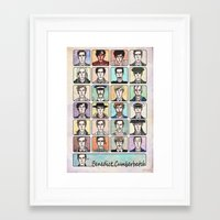 actor Framed Art Prints featuring Benedict the Actor by enerjax