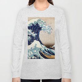 The Great Wave off Kanagawa Long Sleeve T-shirt