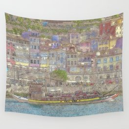 Old houses, Porto, Portugal Wall Tapestry