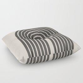 Rainbow Art, Geometric Mid Century, Floor Pillow
